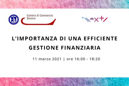 11 marzo - webinar L'importanza di una efficiente gestione finanziaria