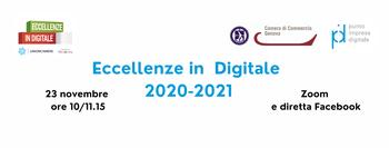 "23 Novembre 2020 – webinar:  ""Eccellenze in digitale 2020-2021"""