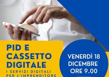 18 dicembre - webinar - Pid e cassetto digitale: i servizi digitali per l'imprenditore