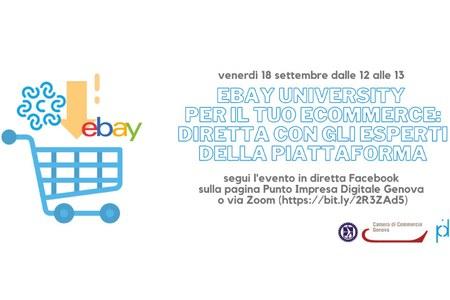 18 settembre ore 12 - eBay University per il tuo ecommerce: diretta con gli esperti della piattaforma
