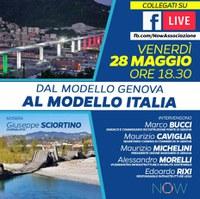 """28 maggio 2021 ore 18.30 - Evento online: """"Dal modello Genova al modello Italia?"""""""